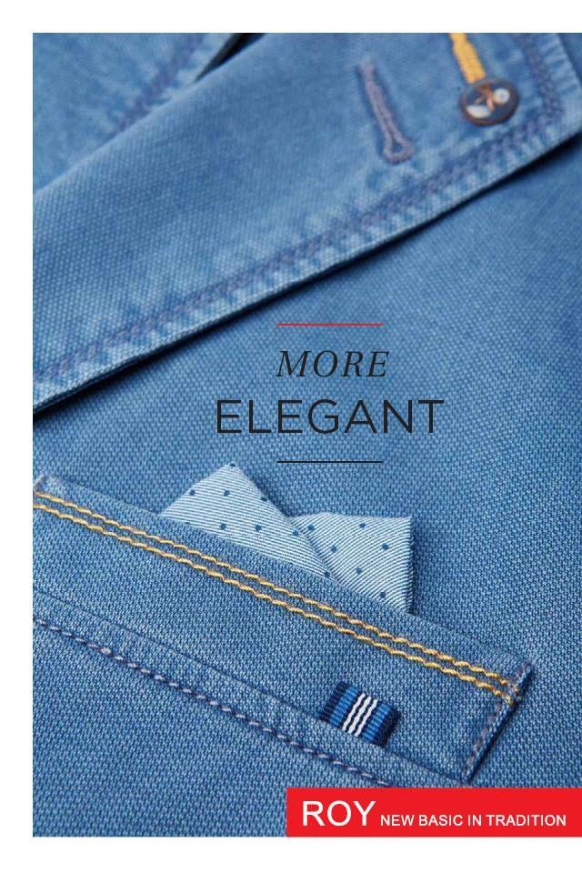 Smart casual blazer, cotton, men fashio, blue. http://www.roy.eu/en