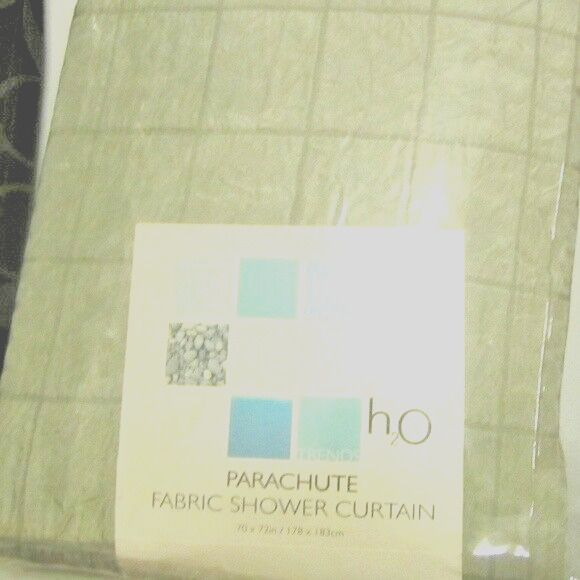 Details About Shower Curtain Parachute Material Square Crinkle