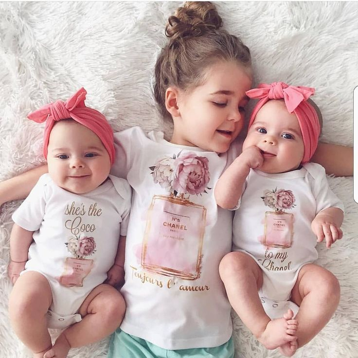 These three gorgeous babes🎀 Theres no better friendship than that of a sister. Because She's the  COCO to your CHANEL 💗  Our twinning Chanel sets are available from Newborn to Adult XL (That's right moms - we can twin too!!) 🎀 Would you twin with your darling in this tee? Let us know below for your chance to win a $40 shop credit🎀 @chantellechamps Reposted Via @rufflesandbowtiebowtique