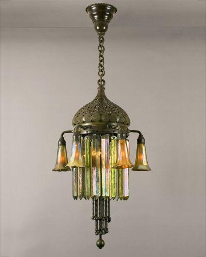 Moorish art nouveau chandy, Tiffany
