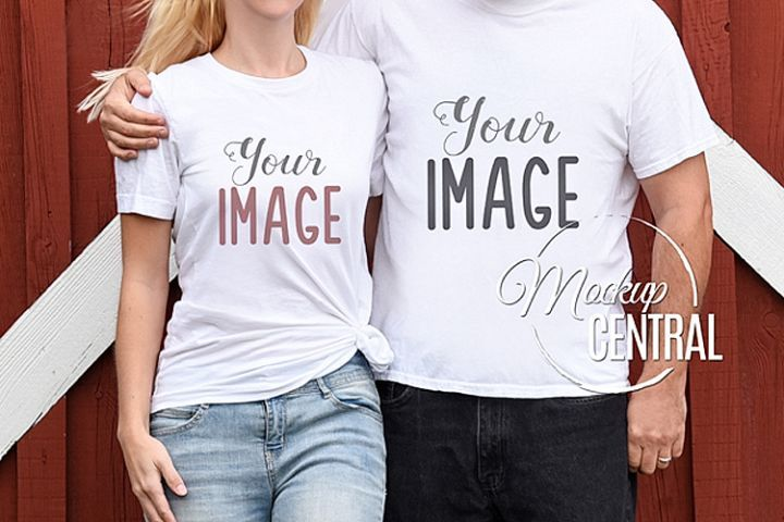 486+ Couple T Shirt Mockup Free Download DXF Include