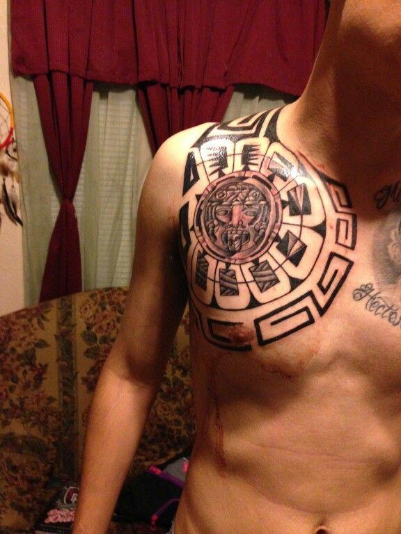 Aztec tribal tattoo | Tattoos | Pinterest | Aztec tribal ... Aztec Calendar Sleeve Tattoos