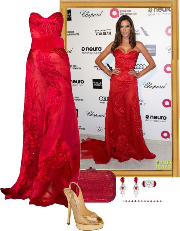"""""""Alessandra Ambrosio – 2015 Elton John AIDS Foundation Oscar Viewing Party."""" by foreverforbiddenromancefashion ❤ liked on Polyvore"""