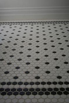 Creative Tile Flooring Patterns   Hex Tile   Black And White Pattern
