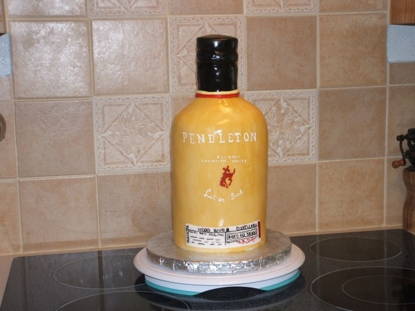 Pendleton Whiskey Bottle Shaped Cake I Love Diy