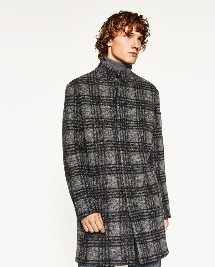 Image 2 of CHECKED COAT from Zara