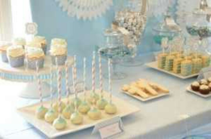 Desserts: Baptisms Desserts, Baby Blue, First Communion, Baptisms Ideas, Baby Boys, Parties Ideas, Baptisms Parties, Desserts Tables