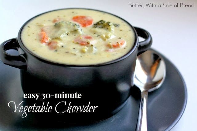 Butter, with a side of Bread // Easy family recipes and reviews.: EASY VEGETABLE CHOWDER