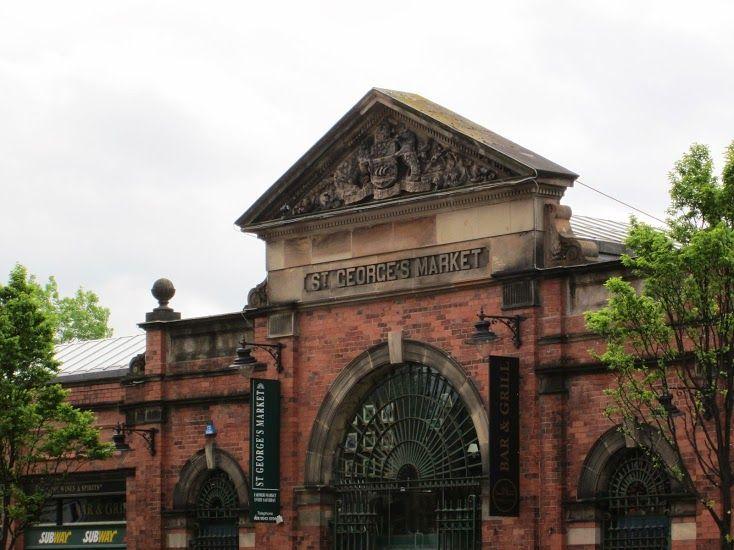 St Georges Market Belfast.