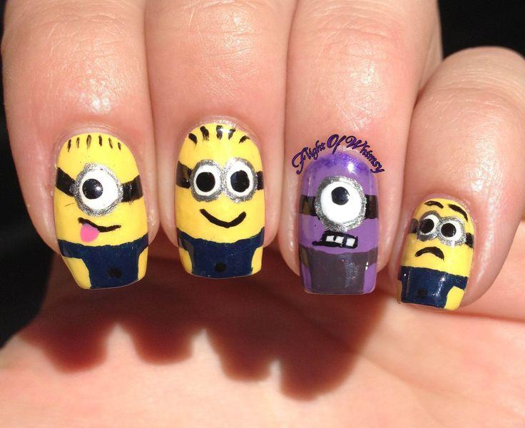 121 mejores imágenes de ♡Minion nails♡ en Pinterest | Uñas con ...
