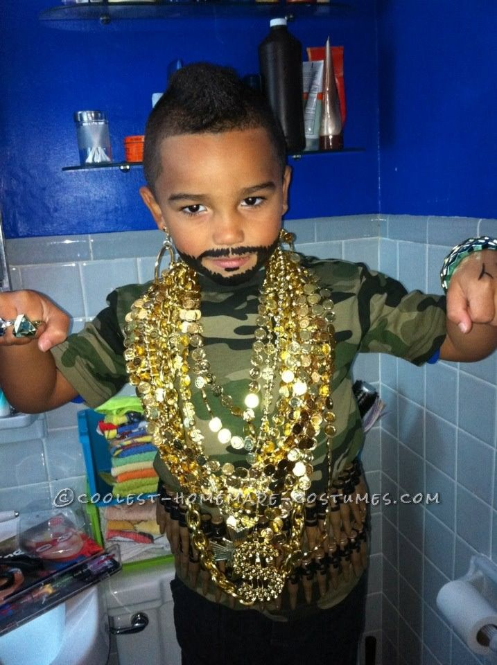 awesome fiveyearold mr t costume halloween costumes