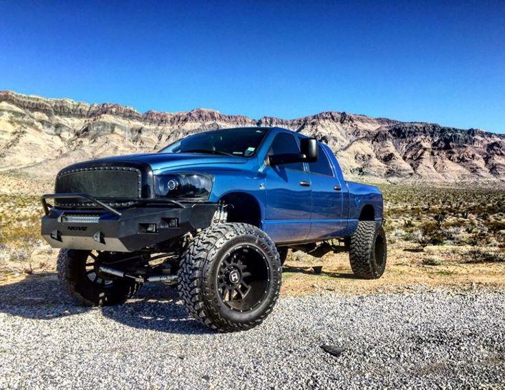Sweet Dodge Mega Cab! #Dodge #Cummins #3rdGen #Blue #MegaCab #Lifted #Bumper #BlackAccent