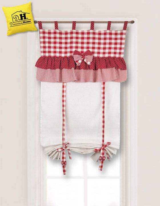 dolcissima tenda finestra in stile country chic di angelica home country 60 x 160 tende