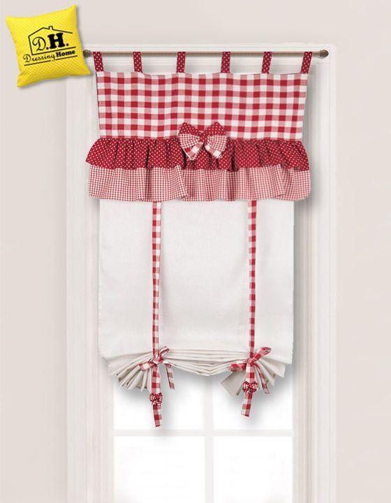 Dolcissima tenda finestra in stile country chic di Angelica Home & Country 60 x 160
