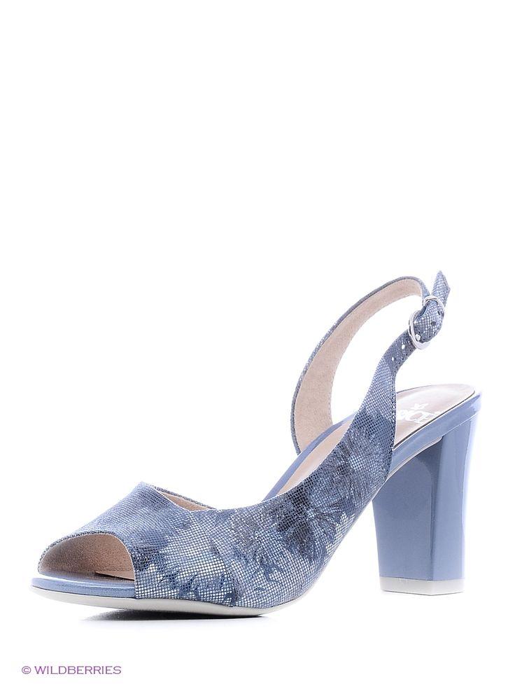 Босоножки на каблуке Caprice. Цвет синий.