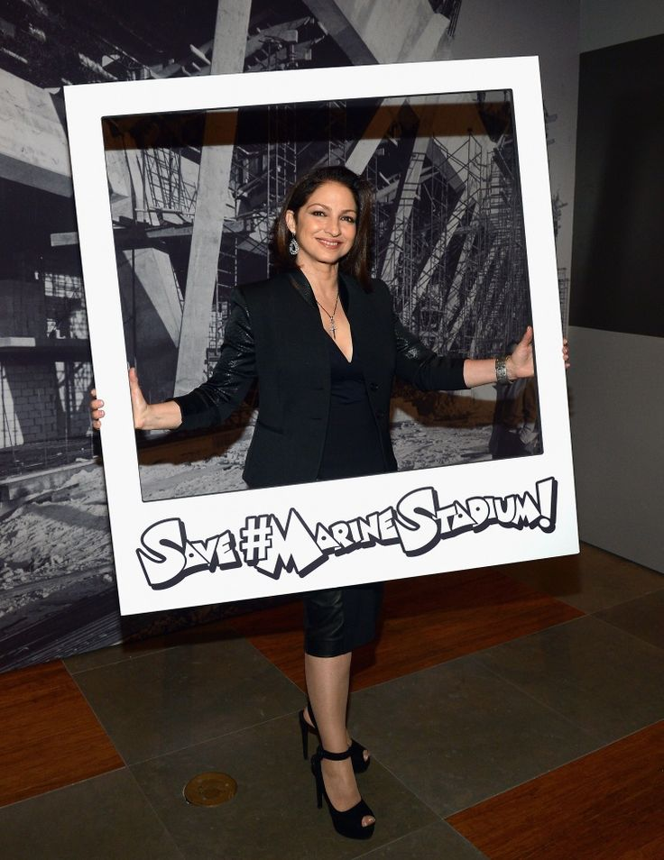 Hashtag for a cause. Current GRAMMY nominee Gloria Estefan raises awareness at Celebrating Miami Marine Stadium: An Evening with Jimmy Buffett and Gloria Estefan on Jan. 9 in Coral Gables, Fla.