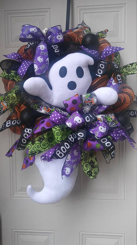 RESERVED Ghost Halloween Wreath
