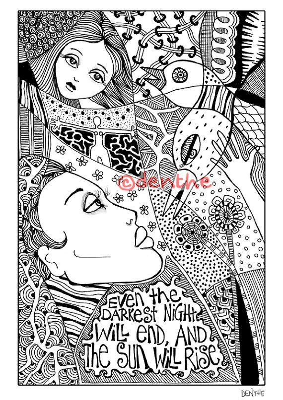 43 best doodle art images on pinterest doodle doodle for Les miserables coloring pages