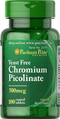 "Chromium Picolinate 500 mcg Yeast Free <p>As a trace mineral, Chromium is an essential nutrient that your body needs every day. The term ""trace"" means that Chromium is a mineral that's found in the body in very small amounts (less than 5 grams), which may make taking a Chromium supplement especially important. Our Chromium formulas are perfect for vegetarians, and are free of yeast.</p> 100 Tablets 500 mcg $6.99"
