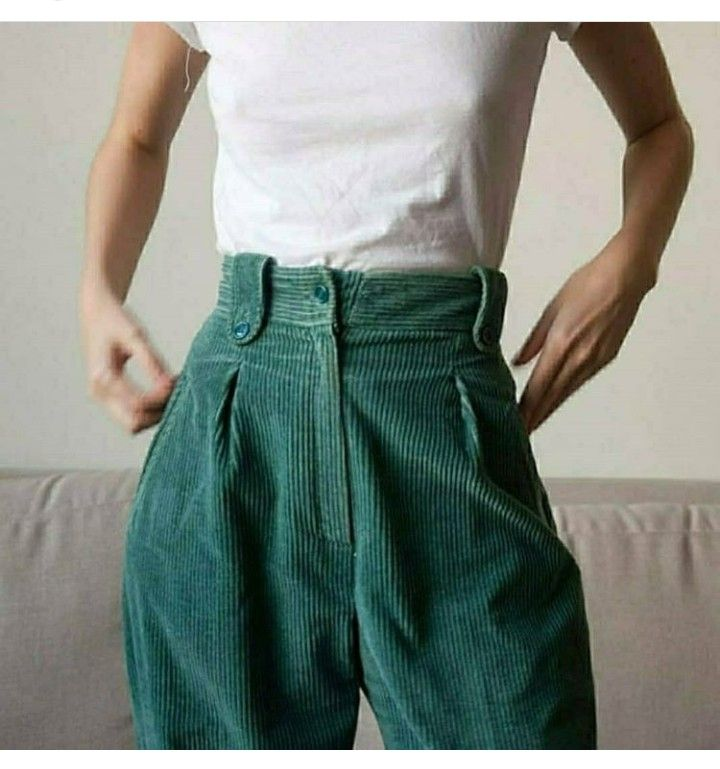 corduroy green pants