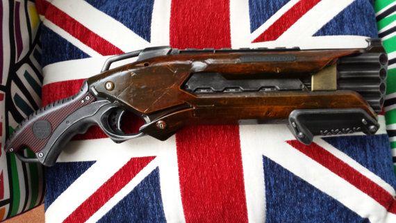 Wood effect Steampunk / Cosplay Nerf Shotgun