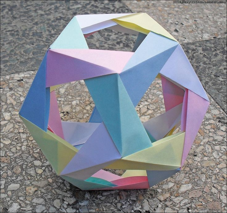 Post-it Note Dodecahedron