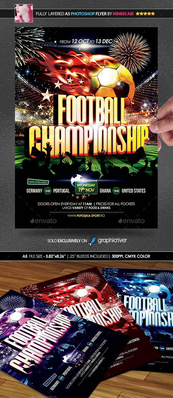 Football Championship Poster/Flyer