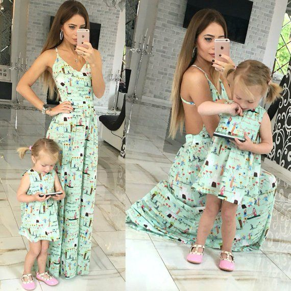 Mommy and Me Matching Mint Outfits for Spring