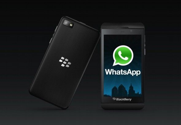 "Ya está disponible en la BlackBerry World ""WhatsApp"" para BlackBerry 10 (BlackBerry Z10 y próximamente Q10)."