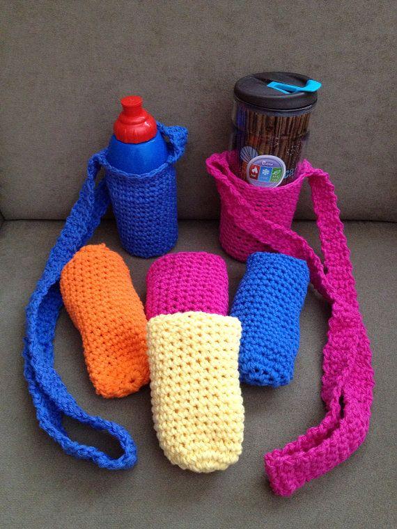 Crochet Water Bottle Holder by Abangani on Etsy, $17.00