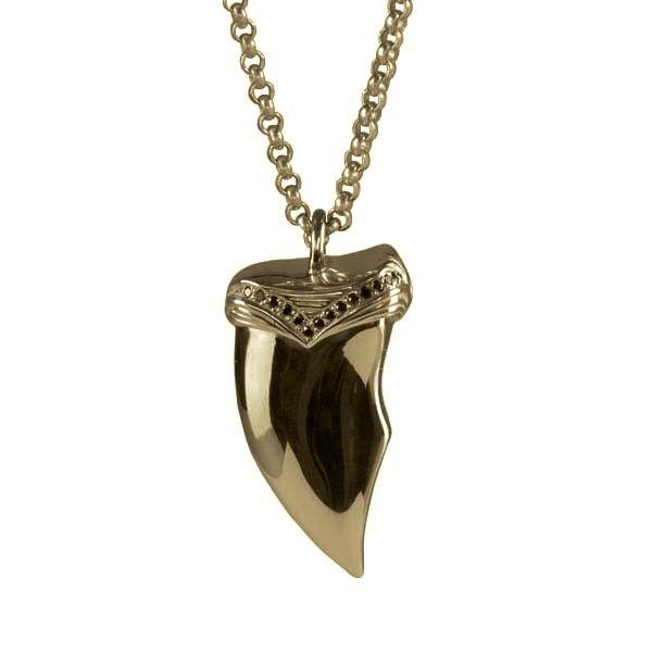 Claw Necklace / Gold / Black Diamonds