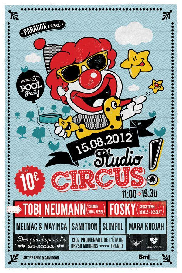 Studio Circus by Vénérosy Laurent, via Behance