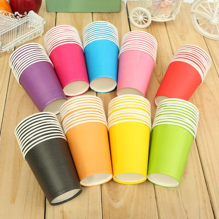 $1.38// Disposable Paper Cups// Multiple colors// 10 pcs// Delivery: 2-6 weeks