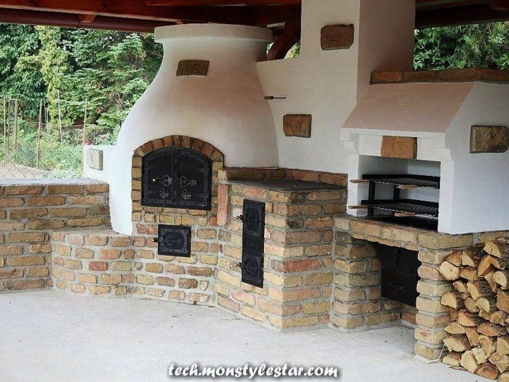 Compact Outside Kitchen With Barbecue Pizza Oven And Conventional Range Lovely Summer Season Kitchen With Range In 2020 Outdoor Kitchen Outdoor Kitchen Design Outdoor Oven