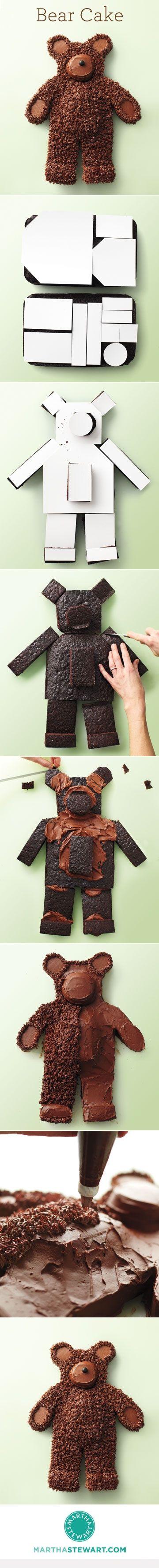 How to Make a Bear Cake - http://dessertideaslove.com/dessert/how-to-make-a-bear-cake.html