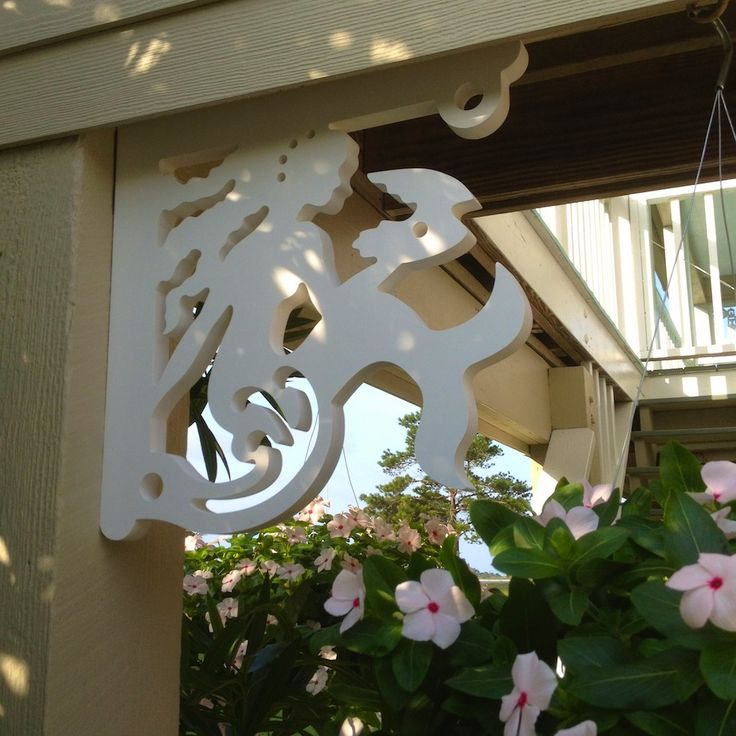 Mermaid With Pearl Decorative Porch Corner Brackets For