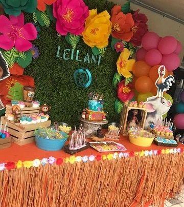 Ideas decorativas para mesa de dulces de moana - Ideas decorativas para cumpleanos ...