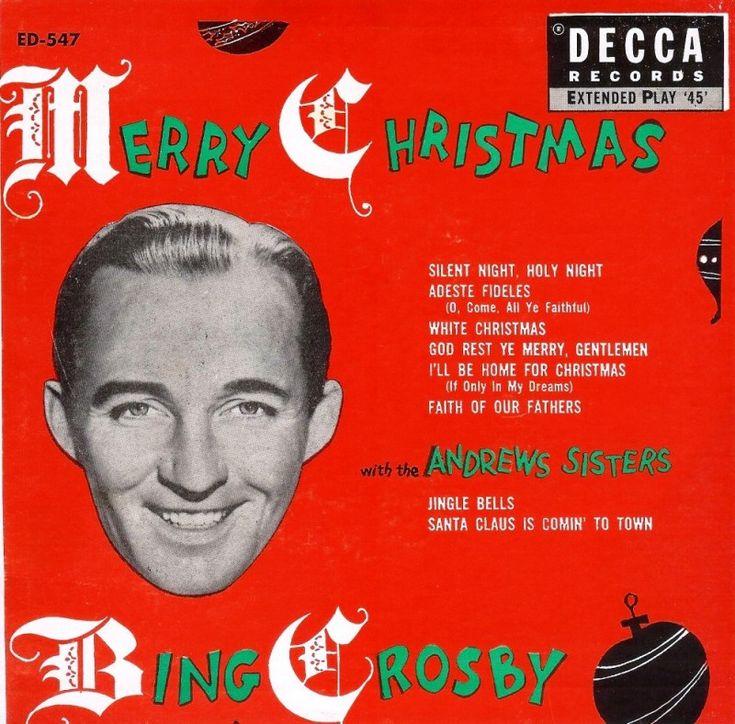 merry christmas bing crosby decca - Bing Crosby White Christmas Album
