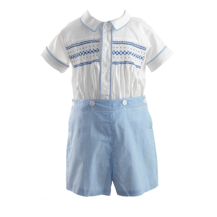 Striped Smocked Set - By Rachel Riley