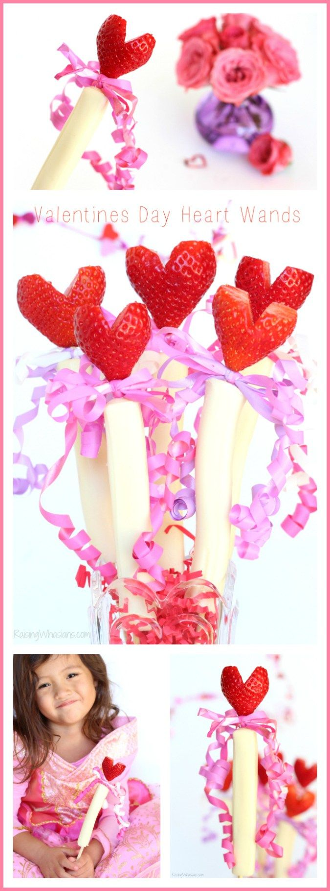 Valentine's Day Heart Wands Snack Idea for Your Princess - Raising Whasians (AD)