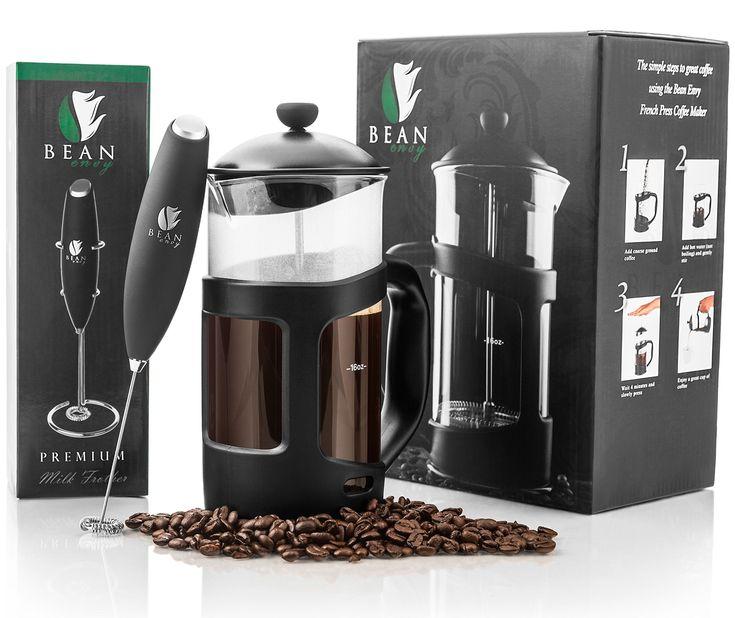 Bean envy 34 oz french press coffee espresso and tea maker