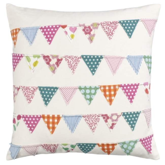 Bunting Cushion... love