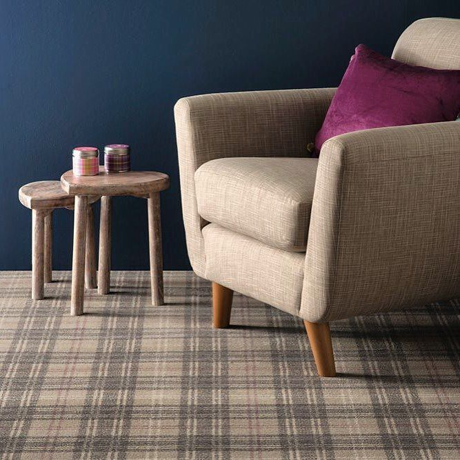 Ulster carpets tartan is right on trend with these colours. #timeless #style #local #interiordesign #design #carpet #floor