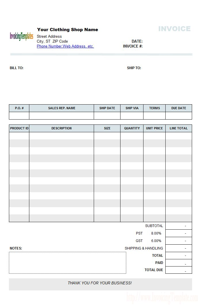 9 best Invoices images on Pinterest Printable invoice, Invoice - supplier evaluation template