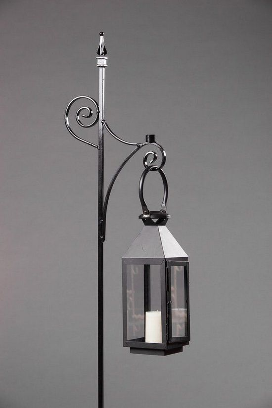 Wrought Iron Black Single Candle Holder Pew Marker with Lantern, Southern Events Party Rental Company Nashville