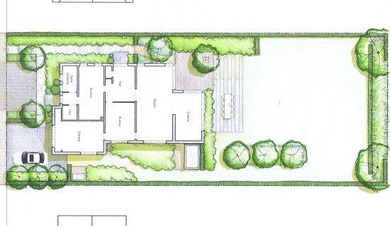 Jardin sobre vue en plan by 4landscape cr ations for Plan de jardin