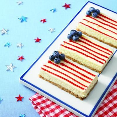 4th of July recipes: American Flag Cheesecake Bars