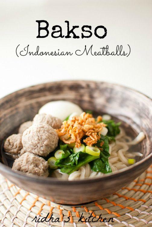 Indonesian Meatballs (Bakso)
