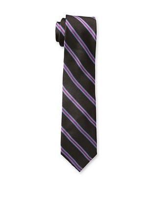 65% OFF Ben Sherman Men's Locke Stripe Tie, Berry