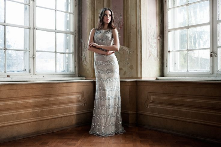 Daalarna Couture Silver Evening Dress_Belle Collection